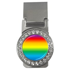 Rainbow Background Colourful Money Clips (CZ)