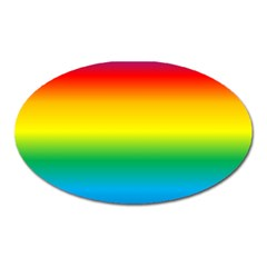 Rainbow Background Colourful Oval Magnet