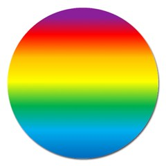 Rainbow Background Colourful Magnet 5  (Round)