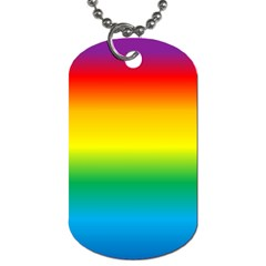 Rainbow Background Colourful Dog Tag (one Side)