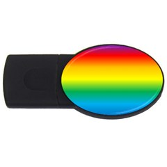 Rainbow Background Colourful USB Flash Drive Oval (1 GB)