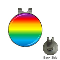 Rainbow Background Colourful Hat Clips with Golf Markers