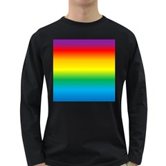 Rainbow Background Colourful Long Sleeve Dark T-Shirts