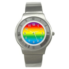 Rainbow Background Colourful Stainless Steel Watch