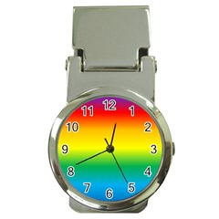 Rainbow Background Colourful Money Clip Watches
