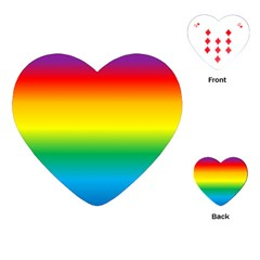Rainbow Background Colourful Playing Cards (Heart)