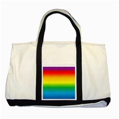 Rainbow Background Colourful Two Tone Tote Bag