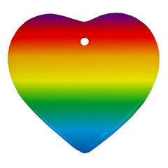 Rainbow Background Colourful Heart Ornament (two Sides)