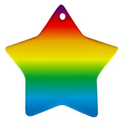 Rainbow Background Colourful Star Ornament (Two Sides)