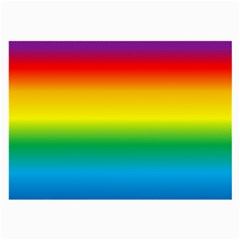 Rainbow Background Colourful Large Glasses Cloth (2-Side)