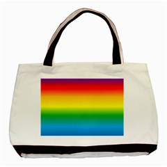 Rainbow Background Colourful Basic Tote Bag (two Sides)