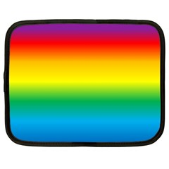 Rainbow Background Colourful Netbook Case (large)