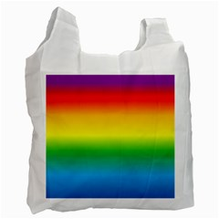 Rainbow Background Colourful Recycle Bag (One Side)