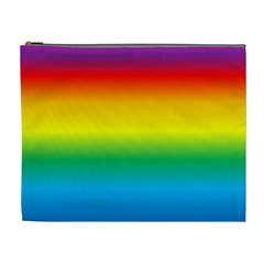 Rainbow Background Colourful Cosmetic Bag (XL)
