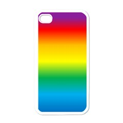 Rainbow Background Colourful Apple Iphone 4 Case (white)