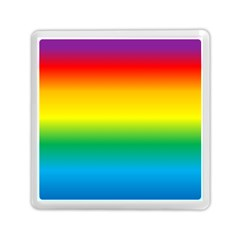 Rainbow Background Colourful Memory Card Reader (square)