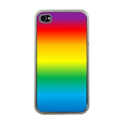 Rainbow Background Colourful Apple iPhone 4 Case (Clear)