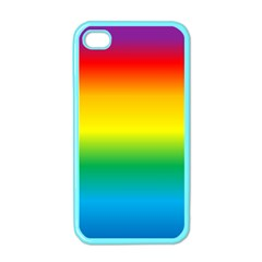 Rainbow Background Colourful Apple iPhone 4 Case (Color)