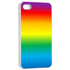 Rainbow Background Colourful Apple iPhone 4/4s Seamless Case (White)