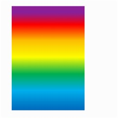 Rainbow Background Colourful Large Garden Flag (Two Sides)