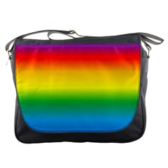 Rainbow Background Colourful Messenger Bags