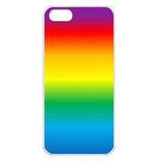 Rainbow Background Colourful Apple Iphone 5 Seamless Case (white)