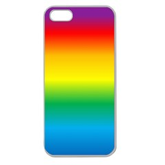 Rainbow Background Colourful Apple Seamless iPhone 5 Case (Clear)