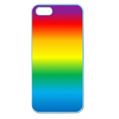 Rainbow Background Colourful Apple Seamless Iphone 5 Case (color)