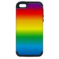 Rainbow Background Colourful Apple iPhone 5 Hardshell Case (PC+Silicone)