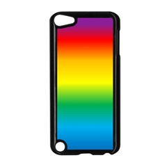 Rainbow Background Colourful Apple iPod Touch 5 Case (Black)