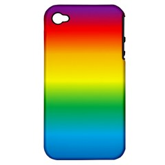 Rainbow Background Colourful Apple iPhone 4/4S Hardshell Case (PC+Silicone)