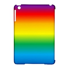 Rainbow Background Colourful Apple iPad Mini Hardshell Case (Compatible with Smart Cover)