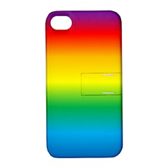 Rainbow Background Colourful Apple iPhone 4/4S Hardshell Case with Stand