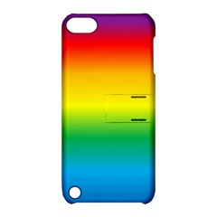 Rainbow Background Colourful Apple iPod Touch 5 Hardshell Case with Stand
