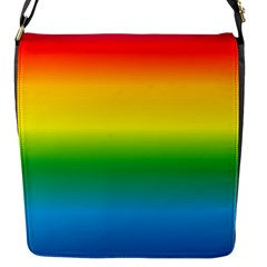 Rainbow Background Colourful Flap Messenger Bag (S)