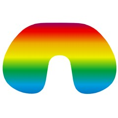 Rainbow Background Colourful Travel Neck Pillows