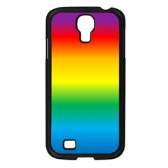 Rainbow Background Colourful Samsung Galaxy S4 I9500/ I9505 Case (Black)