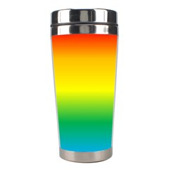 Rainbow Background Colourful Stainless Steel Travel Tumblers