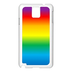 Rainbow Background Colourful Samsung Galaxy Note 3 N9005 Case (White)