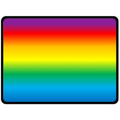 Rainbow Background Colourful Double Sided Fleece Blanket (Large)