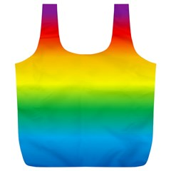 Rainbow Background Colourful Full Print Recycle Bags (L)