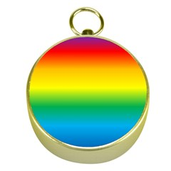 Rainbow Background Colourful Gold Compasses
