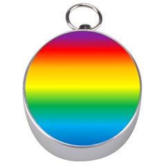 Rainbow Background Colourful Silver Compasses
