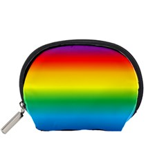 Rainbow Background Colourful Accessory Pouches (Small)