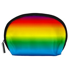 Rainbow Background Colourful Accessory Pouches (Large)