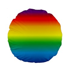 Rainbow Background Colourful Standard 15  Premium Flano Round Cushions