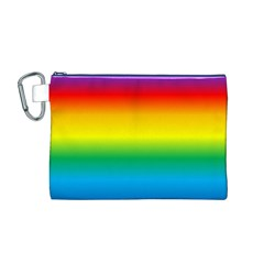 Rainbow Background Colourful Canvas Cosmetic Bag (M)