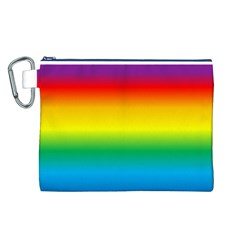 Rainbow Background Colourful Canvas Cosmetic Bag (L)