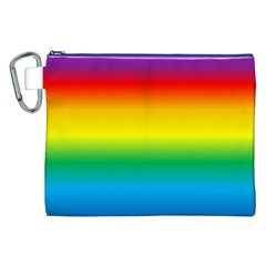 Rainbow Background Colourful Canvas Cosmetic Bag (xxl)