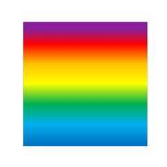 Rainbow Background Colourful Small Satin Scarf (Square)